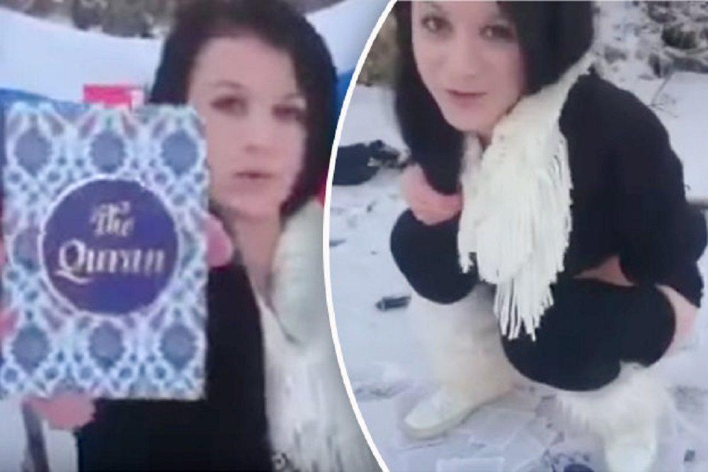 YOUTUBE Donna straccia pagine del Corano, vi urina sopra e poi...