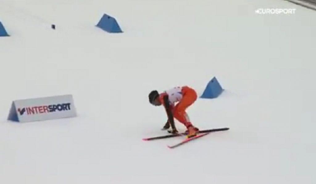 Sulla pista di sci per la prima volta