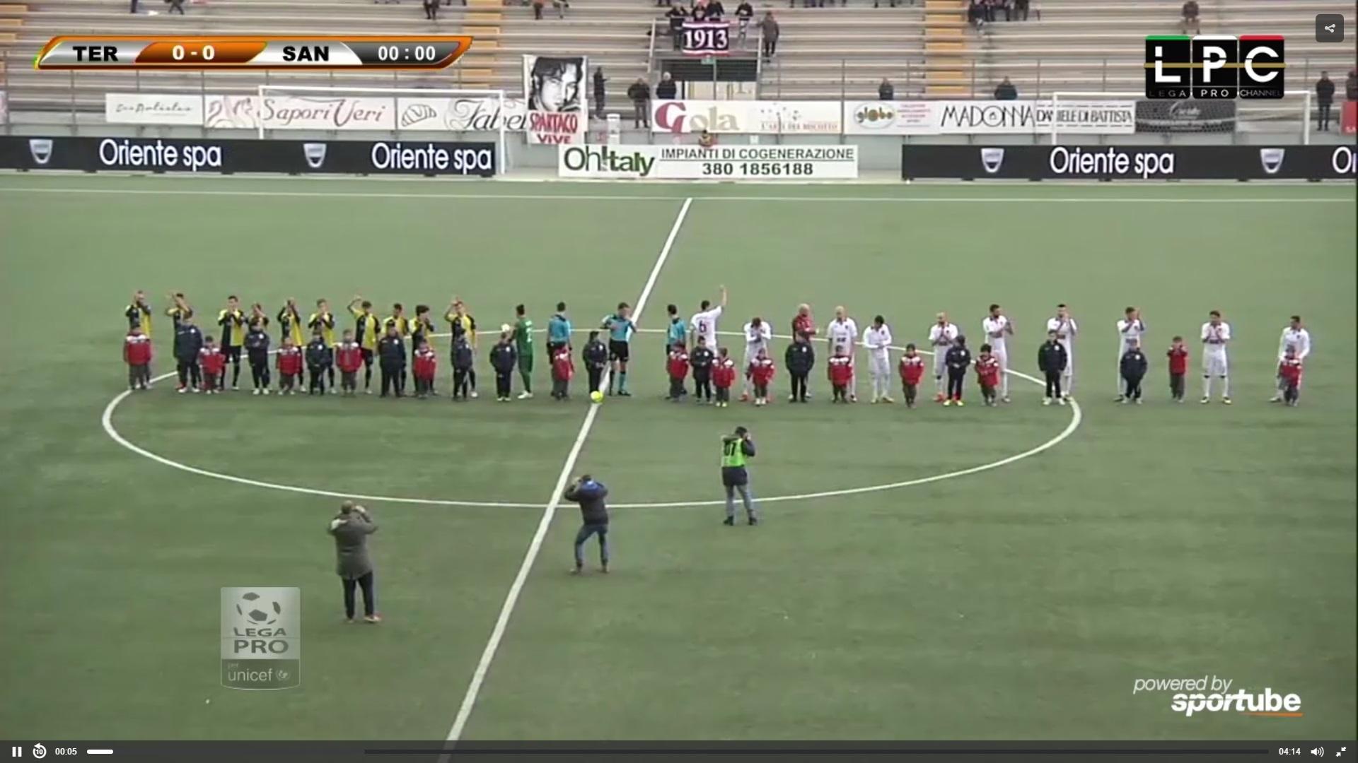 Teramo-Ancona Sportube: streaming diretta live gratis Coppa Italia Lega Pro