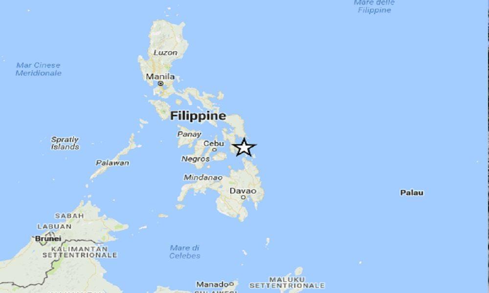 Terremoto Filippine, scossa di magnitudo 6,3