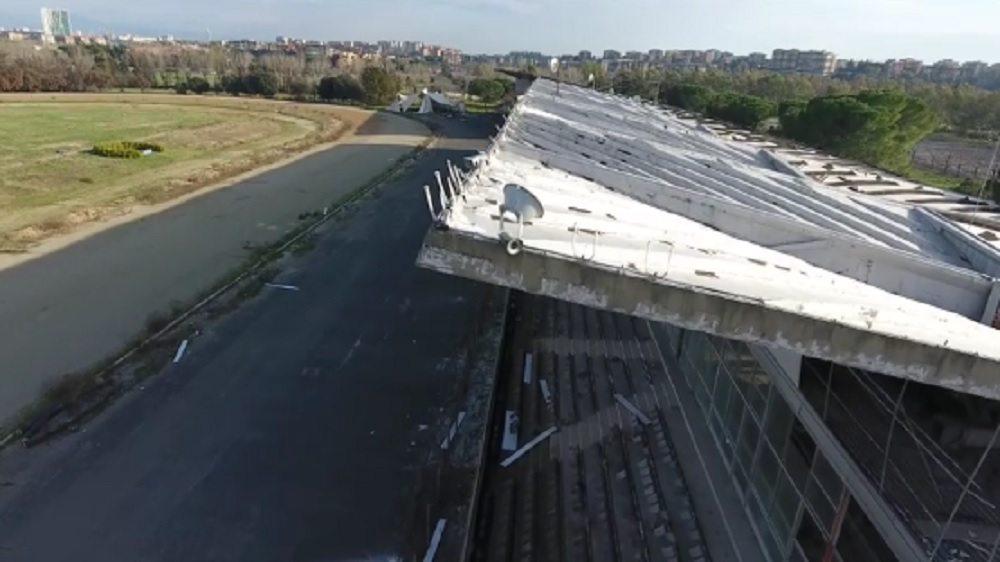 Tor di Valle, la Roma mostra in un video il degrado dell' ex ippodromo