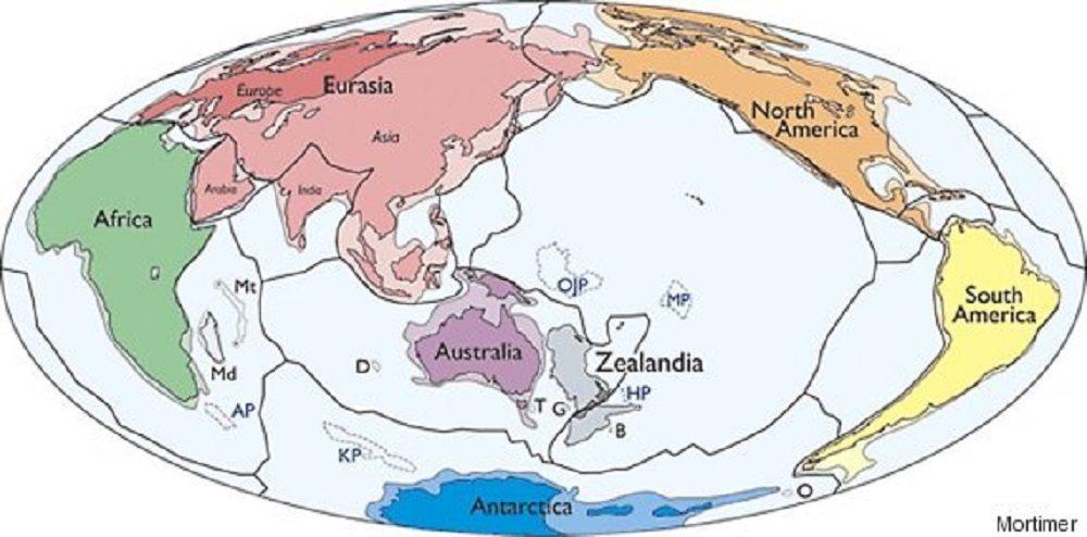 Zealandia, il settimo continente: è sommerso al 94%
