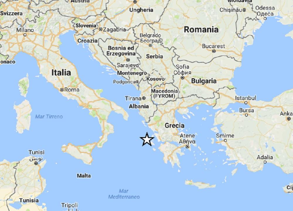 Terremoto Grecia, scossa magnitudo 4.3 nell'isola di Cefalonia. Avvertito in Calabria