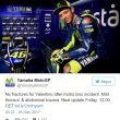 Valentino Rossi, notte in ospedale dopo incidente