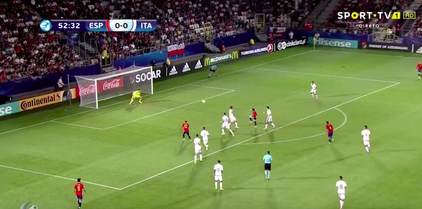 Saul Niguez video gol Spagna-Italia 1-0 (Europeo Under 21)