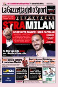 Calciomercato Milan, Leonardo Bonucci: un affare da 42 milioni. Leo al top: 10 a stagione, sarà capitano