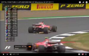 YouTube, Vettel: problema alle gomme a due giri dal termine del Gp Gran Bretagna