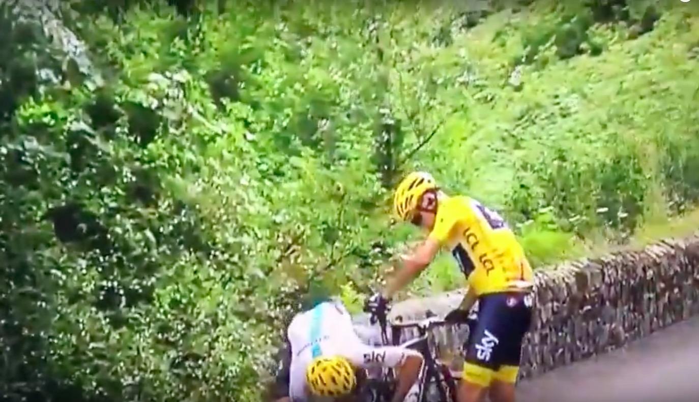 YouTube, Tour de France: Froome trema, fora poi rientra e Aru non scappa