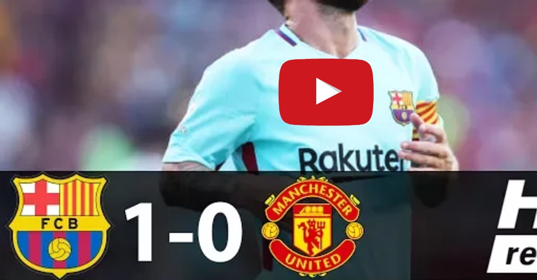 Barcellona-Manchester United 1-0, highlights International Champions Cup: Neymar decisivo