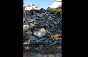 Amatrice a quasi un anno dal terremoto: cumuli di macerie ovunque