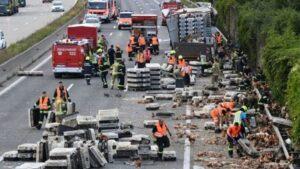 Austria, camion si rovescia in autostrada: trasportava 7mila polli