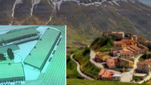 """Castelluccio di Norcia, il """"villaggio"""" commerciale fa discutere: il caso in Parlamento"""