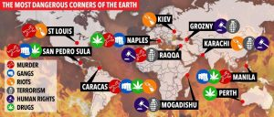Le 10 città più pericolose al mondo: c'è Napoli nella classifica del Sun