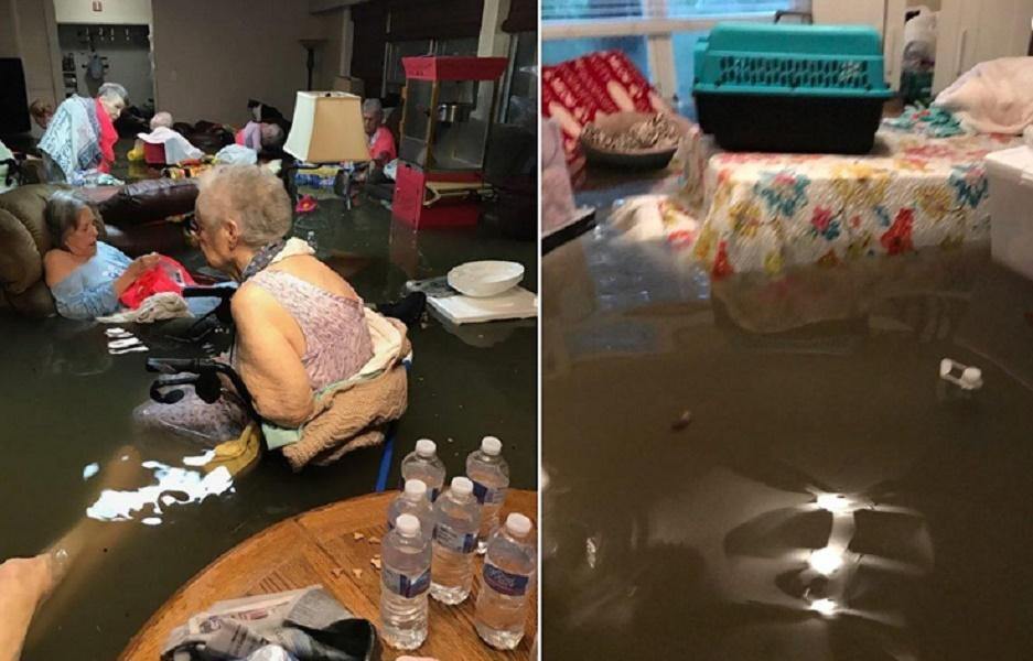 Uragano Harvey, anziani sommersi dall'acqua nella casa di cura salvati grazie a questa FOTO