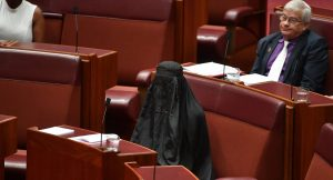 """YOUTUBE Australia, senatrice Pauline Hanson in Aula con il burqa: """"Va vietato"""""""