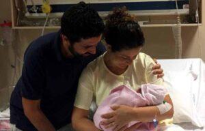 La coppia con  la loro bambina