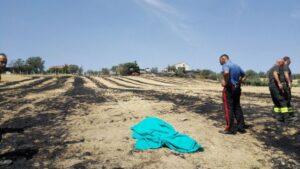 Sant'Omero, incendio in un campo: muore una contadina