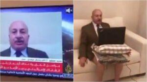 Giordania, il giornalista politico va in diretta tv senza...pantaloni VIDEO