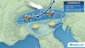 Previsioni meteo, Lucifero addio: arrivano temporali e temperature giù (almeno al Nord)