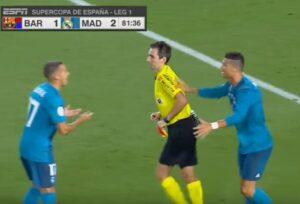 YOUTUBE Cristiano Ronaldo spinge l'arbitro, rischia maxi squalifica