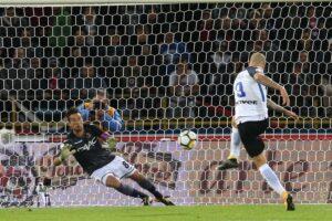 Inter bloccato dal Bologna, si salva con rigore di Mauro Icardi