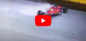 YOUTUBE F1 Gp Singapore, incidente al via: ritirati Vettel, Raikkonen, Verstappen