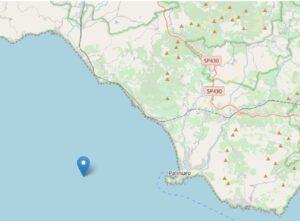Terremoto Cilento, scossa al largo di Palinuro di magnitudo 2.8