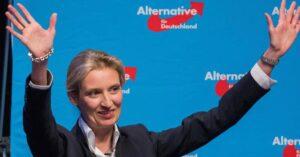 Germania. Alice Weidel, leader dell'estrema destra AfD, lesbica con partner originaria dello Sri Lanka