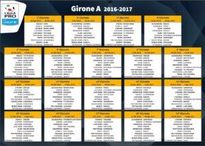 Girone A Lega Pro 2016-17: classifica finale e risultati