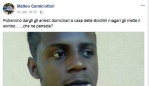 """Matteo Camiciottoli (Lega): """"Niente scuse alla Boldrini. Quegli stupri sono anche colpa sua"""""""