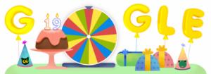 Google compie 19 anni, ruota della fortuna per festeggiare il compleanno