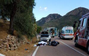Nuoro, motociclista muore in incidente stradale sulla statale 198 tra Tortolì e Ilbono