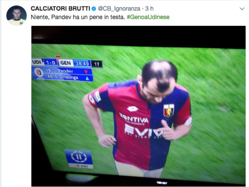 Udinese-Genoa, Goran Pandev: ma cosa ha in testa? Sembra un p..e