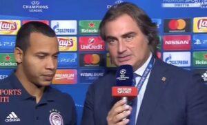 YOUTUBE Pardo intervista Pardo dopo Juve-Olympiacos, risate in studio