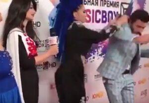 Presentatore è il suo ex, popstar russia lo schiaffeggia sul red carpet