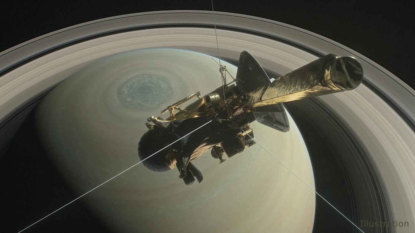 Sonda Cassini, il tuffo di addio nell'atmosfera di Saturno il 15 settembre