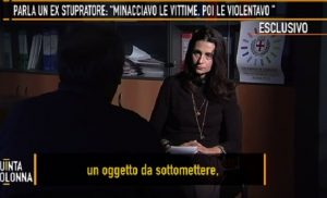 """Quinta Colonna, parla l'ex stupratore seriale: """"Così violentavo le mie vittime"""""""