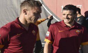 """Francesco Totti e Alessandro Florenzi, Chi: """"I due non si parlano più"""" (foto Ansa)"""
