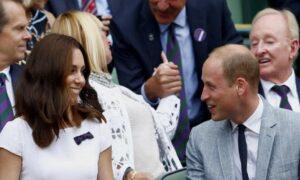 Il principe William e la moglie Kate Middleton (foto Ansa)