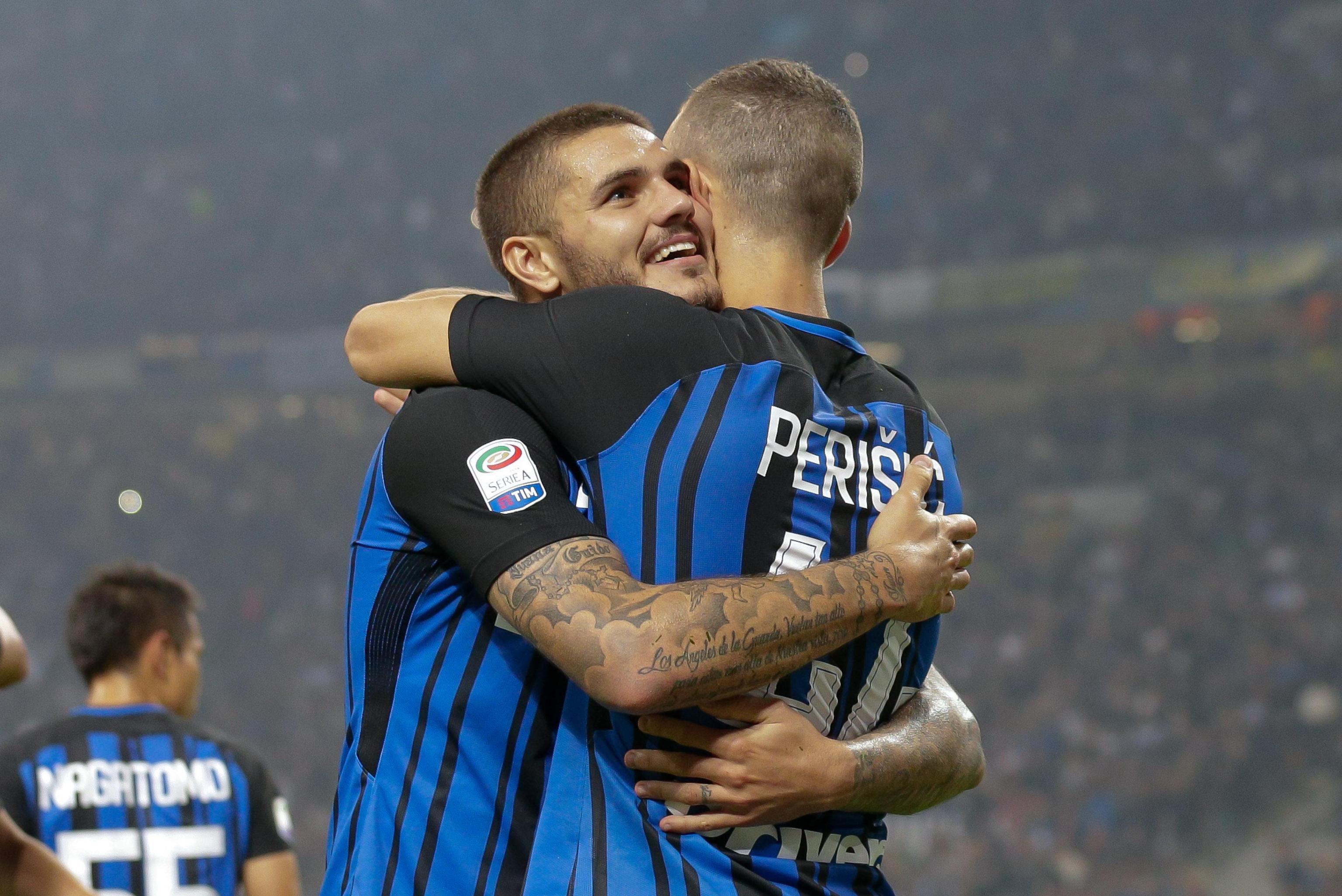 Inter affossa Milan nel derby, tripletta di Icardi: è anti Napoli