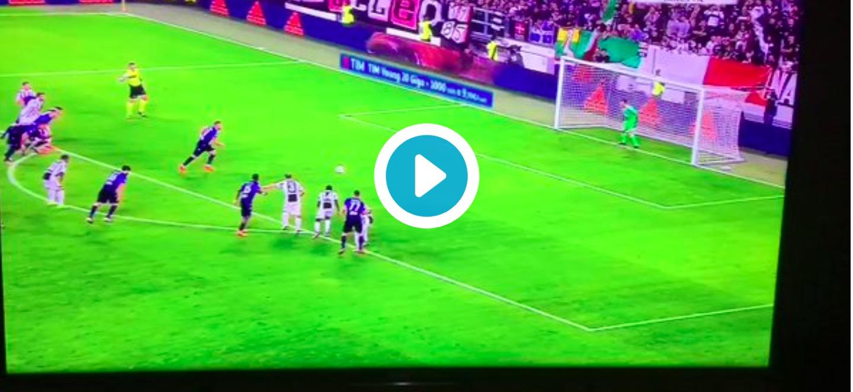 Ciro Immobile video gol Juventus-Lazio su rigore: assegnato con VAR