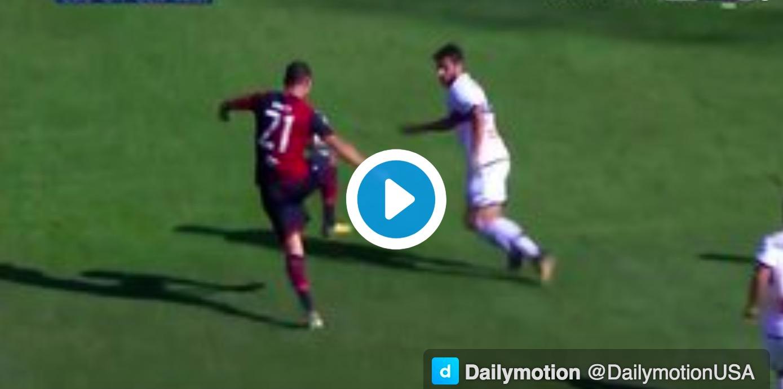Andrey Galabinov video gol Cagliari-Genoa: gelata la Sardegna Arena