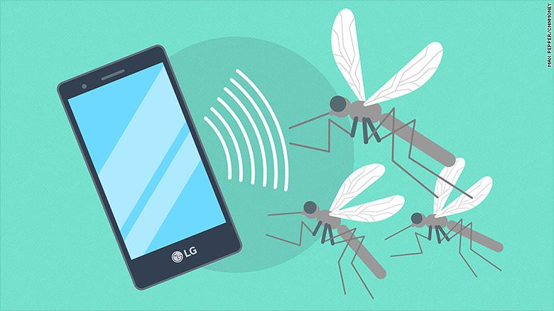 Smartphone che caccia le zanzare: è vero, esiste