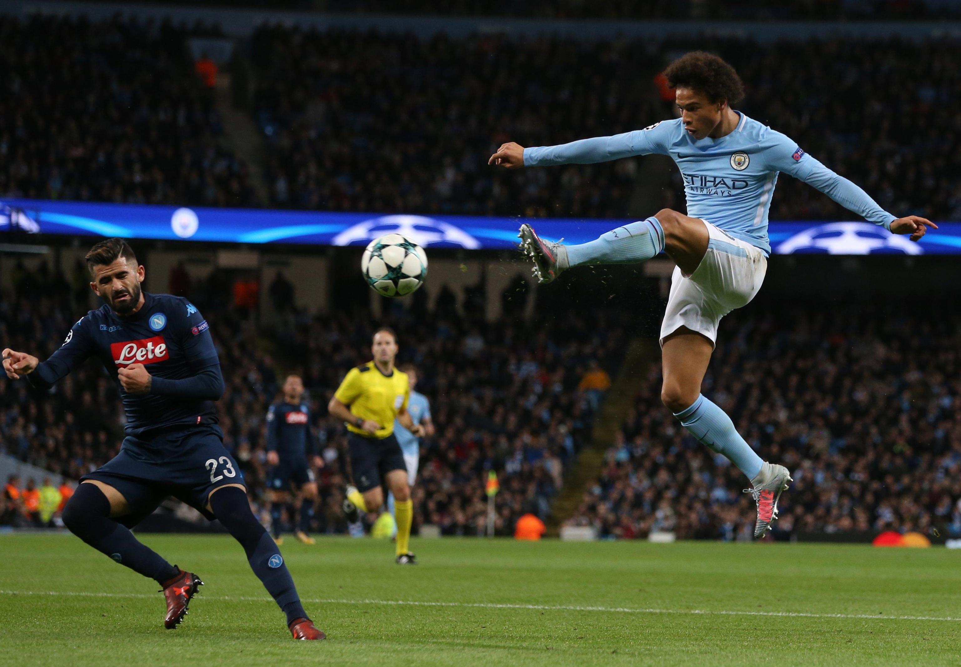 Champions: show del City nel primo tempo, Napoli si sveglia tardi
