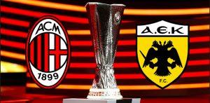 Milan-Aek diretta, formazioni ufficiali dalle 20.45 (Europa League)