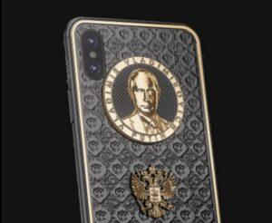 iPhone Apple con il volto di Putin placcato oro: l'iniziativa per il suo compleanno FOTO