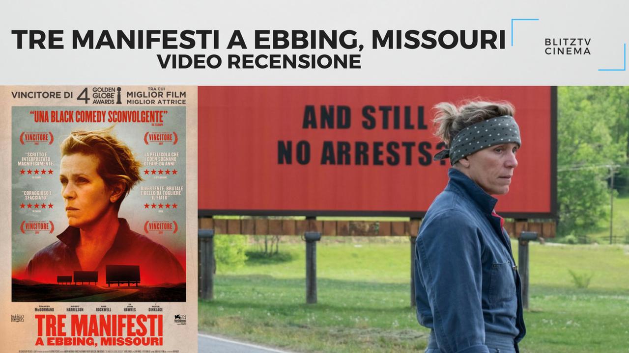 YOUTUBE Video Recensione: Tre manifesti a Ebbing, Missouri. Un piccolo gioiello grezzo, ma avercene