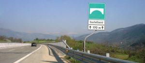 Autostrada A1, chiusa immissione A24: percorsi alternativi