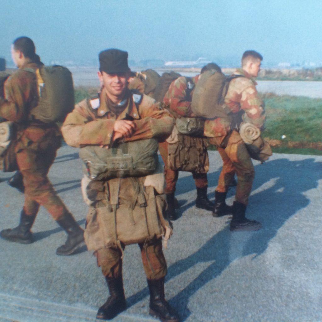 Servizio militare, FOTO febbraio 1990 all'aeroporto di Pisa