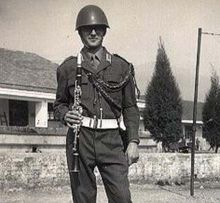 """Servizio militare, FOTO banda musicale 89° fanteria """"Salerno"""" (Imperia, 1969)"""